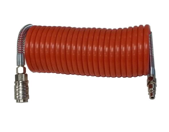 Spiralno poliamidno crijevo s brzim spojevima 6x8 mm / 10 m
