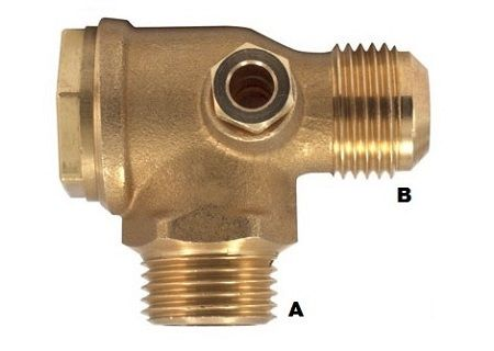 "Nepovratni ventil 1/2"" M (A) x 3/8"" M (B) kon."
