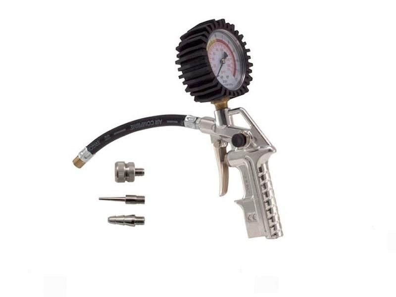 Tlakomjer za gume AL, Ø 63, cijev 13 cm + set 3 kom.