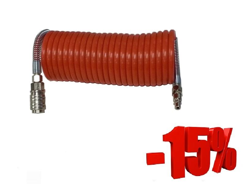 Spiralno poliamidno crijevo s brzim spojevima 8x10 mm / 15 m