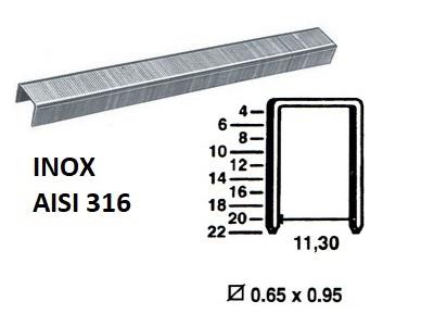 Klamerice tip 80 - INOX