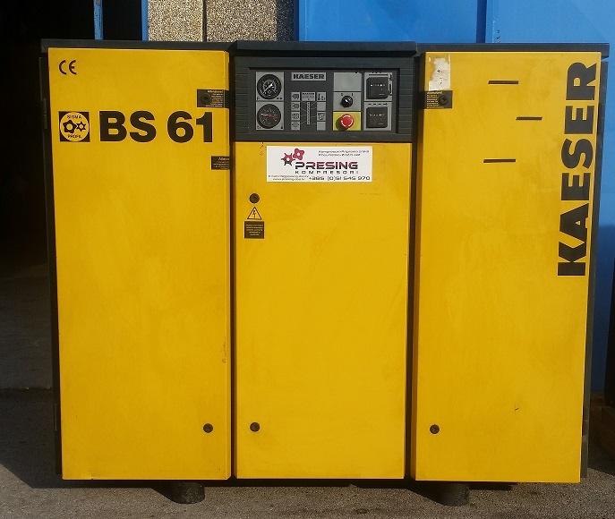Rabljeni vijčani kompresor Kaeser BS61, 37 kW - 11 bar