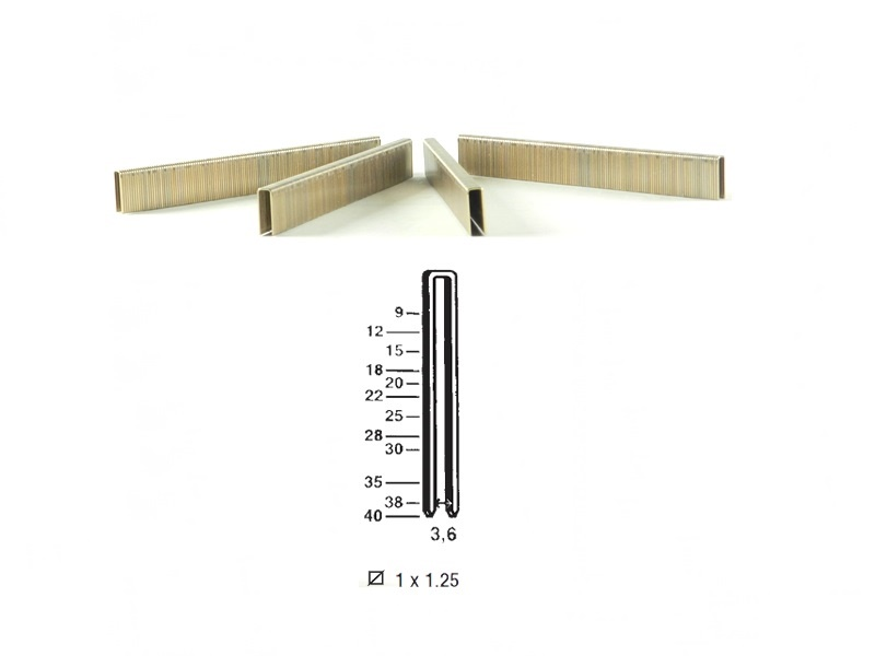 Klamerice tip 90 - 25 mm